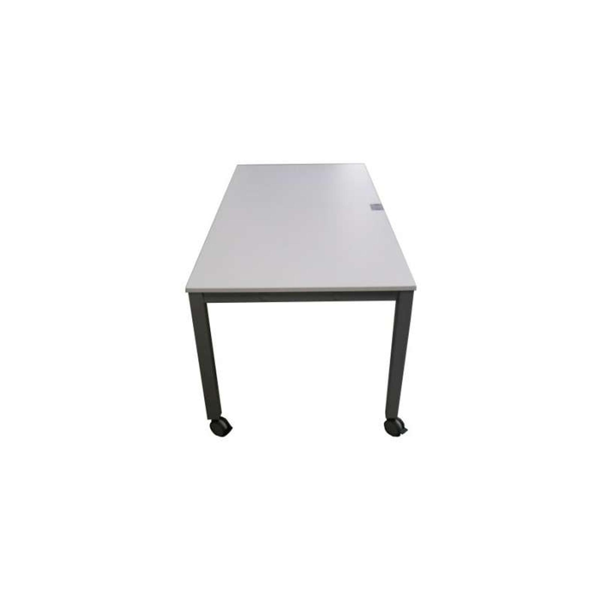 Schreibtischplatte weiß  KÖNIG & NEURATH Basic 4 Schreibtisch Platte Weiß 160x80cm auf Rollen ...