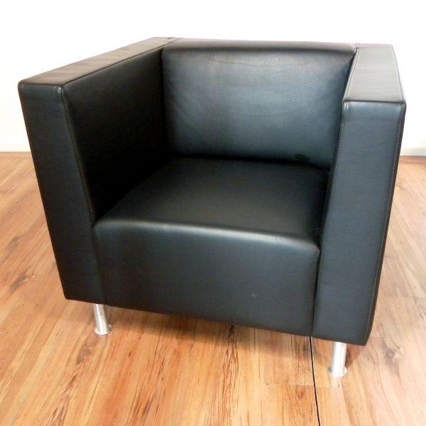 """Dietiker Sessel """"Cubus"""" - Leder in schwarz"""