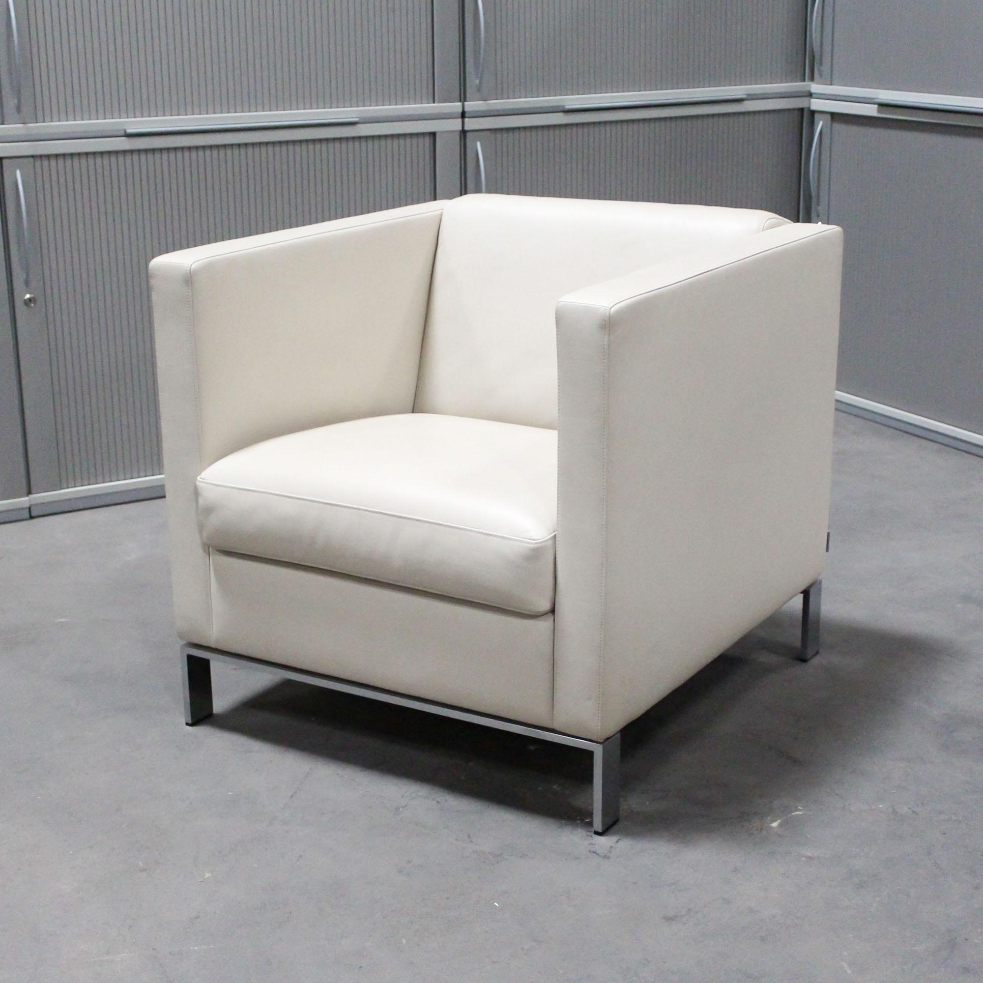 walter knoll sessel foster 500 leder creme wei designklassiker ks b rom bel. Black Bedroom Furniture Sets. Home Design Ideas