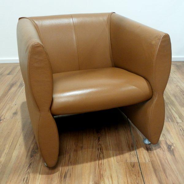 Vintage Sessel - Leder in braun