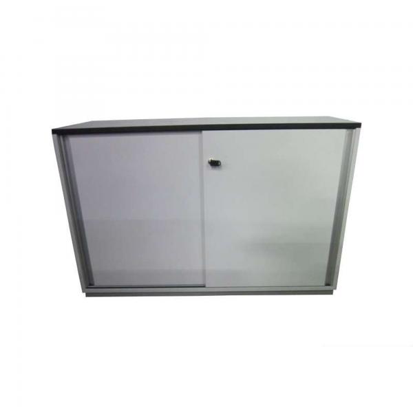 Schärf / Samas Aktenschrank / Sideboard 2 Ordnerhöhen mit Schiebetüren weiß