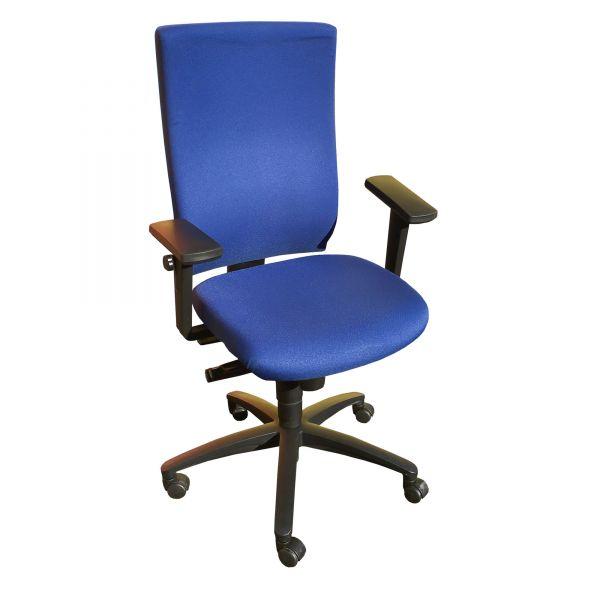 Dauphin Bürodrehstuhl @Just Stoff blau Gestell Schwarz