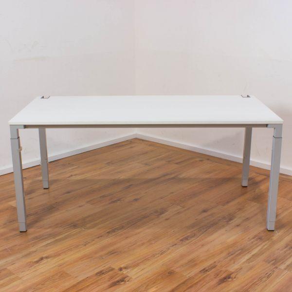 Steelcase Kalidro Schreibtisch - 160 x 80 cm in weiß - Gestell silber