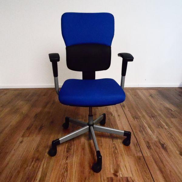 Steelcase Let´s B Bürostuhl - Stoff helles blau - Gestell silber