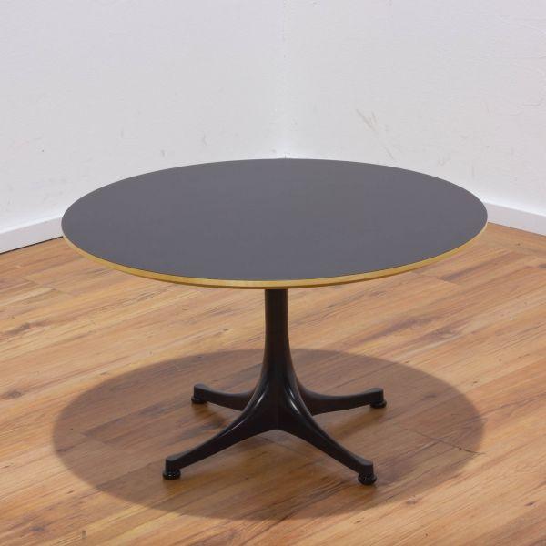 Vitra Nelson Coffe Table Beistelltisch - Platte schwarz Ø70 cm - 4-Sternfuß schwarz
