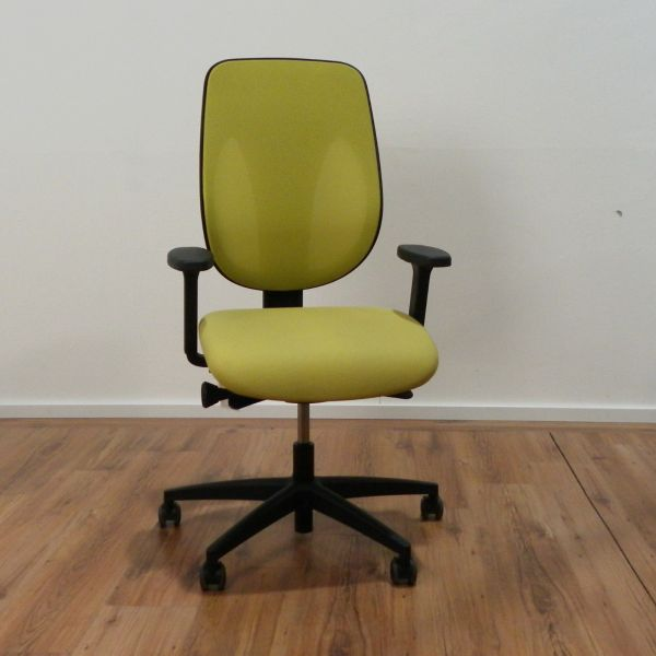 Giroflex 353 Bürodrehstuhl - Stoff apfelgrün - Gestell schwarz