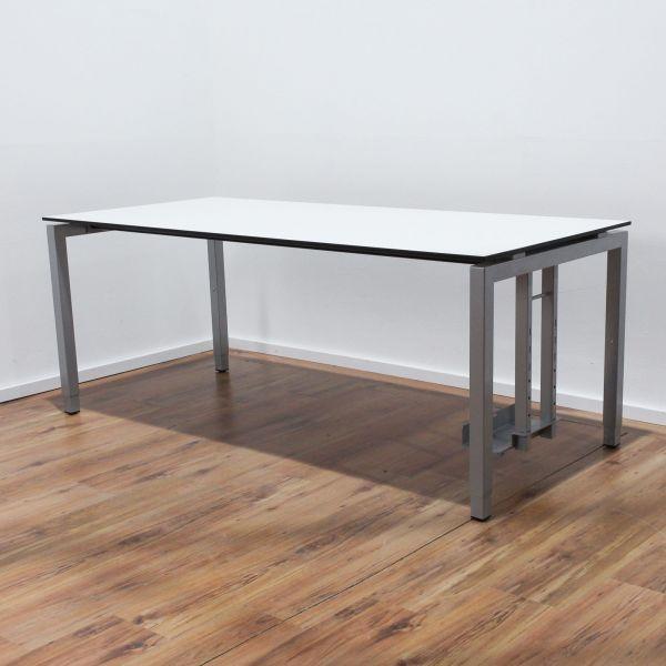 Sedus KMAT Temptation Schreibtisch - 180x80cm Platte weiß 4-Fußgestell silber