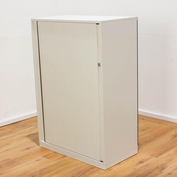 Steelcase Sideboard 3OH - Querrolladen weiß - Akustik Rückwand