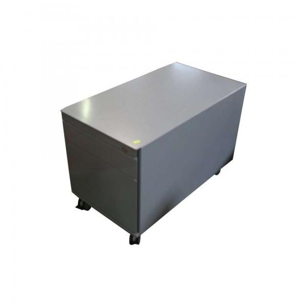 König & Neurath Rollcontainer - Metall in silber - 3 Laden silber