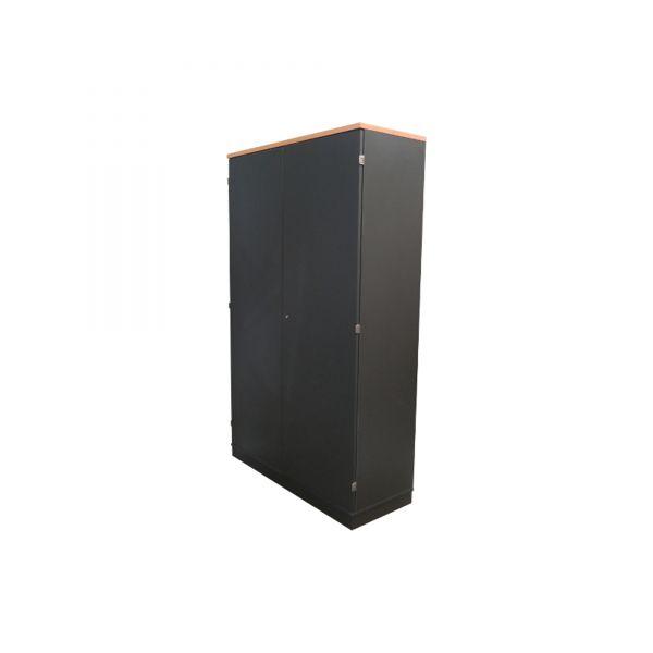 Planmöbel Garderobenschrank Korpus Anthrazit Deckplatte Buche