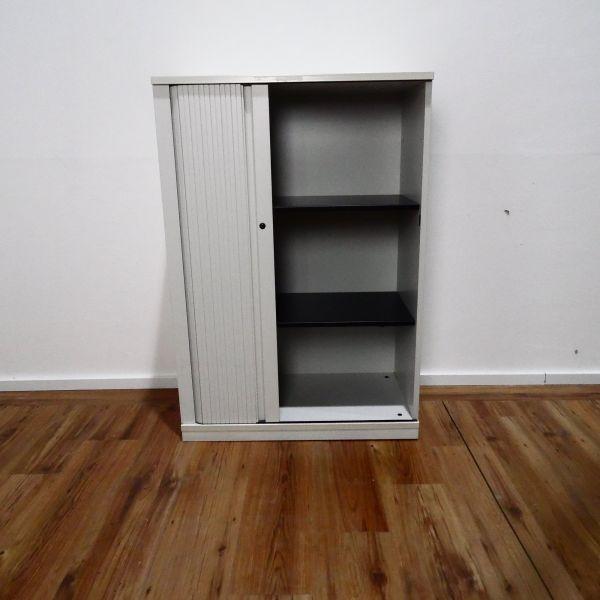 Steelcase Sideboard 3OH - Korpus weiß - Querrolladen weiß