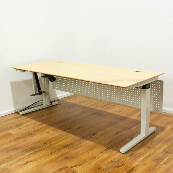 VS E-Tisch - Platte ahorn 200x80 cm - Memoryfunktion -Knieraumblende