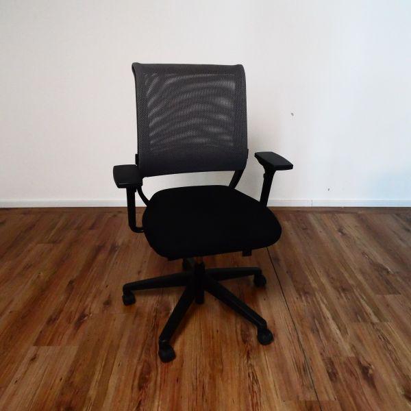 "Sedus Bürodrehstuhl ""Netwin"" - Netzrücken beige - Gestell schwarz"