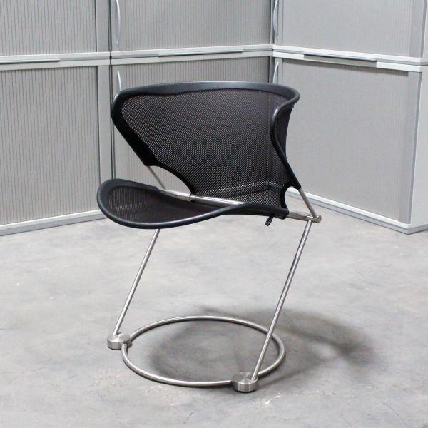 %Sale Wilkhahn Novula Lounge-Chair Netzbezug Schwarz