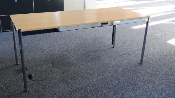 USM Haller Schreibtisch 175x75cm Buche inkl. Kabelführung