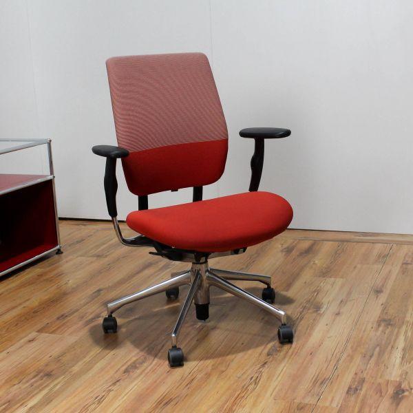 Vitra Oson C Bürodrehstuhl Stoff rot