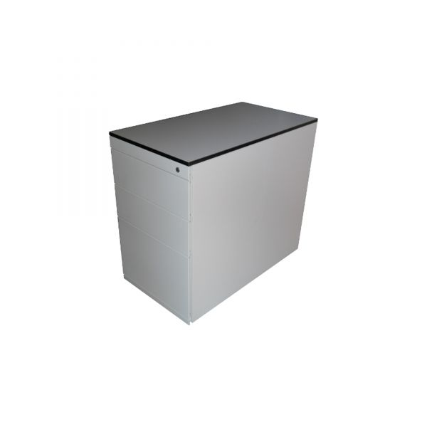 Steelcase Standcontainer weiß 4 Auszüge inkl. Hängeregister