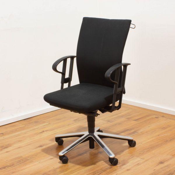 Klöber Bürodrehstuhl schwarz - 5-Sternfußgestell chrom %Angebot des Monats%