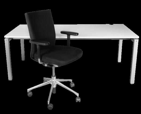 % Sale Arbeitsplatz-Set Schärf Schreibtisch 180x90 cm + Vitra Axess Bürostuhl