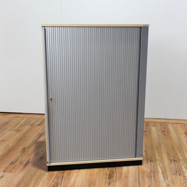 Vario Sideboard 3 OH Korpus Ahorn Querrolladen Silber