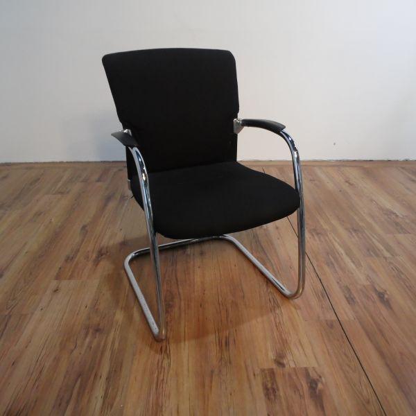 Sedus Konferenzstuhl - Stoff in schwarz - Gestell chrom