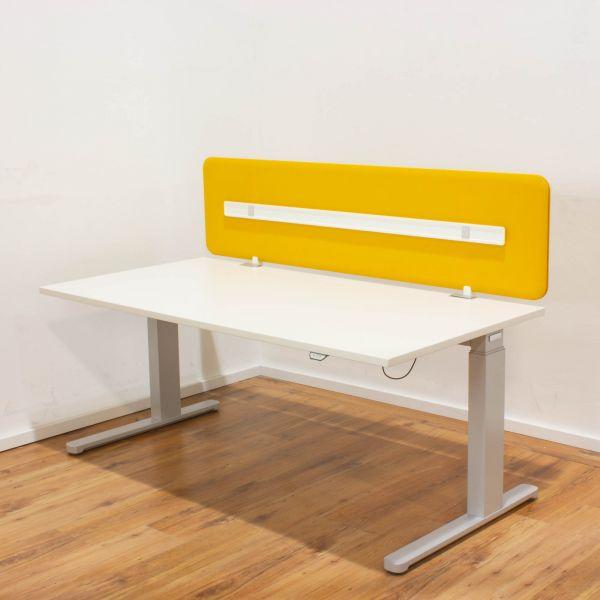 "Haworth E-Tisch ""Your Place"" 160x80 cm lichtgrau - C-Fußgestell silber"