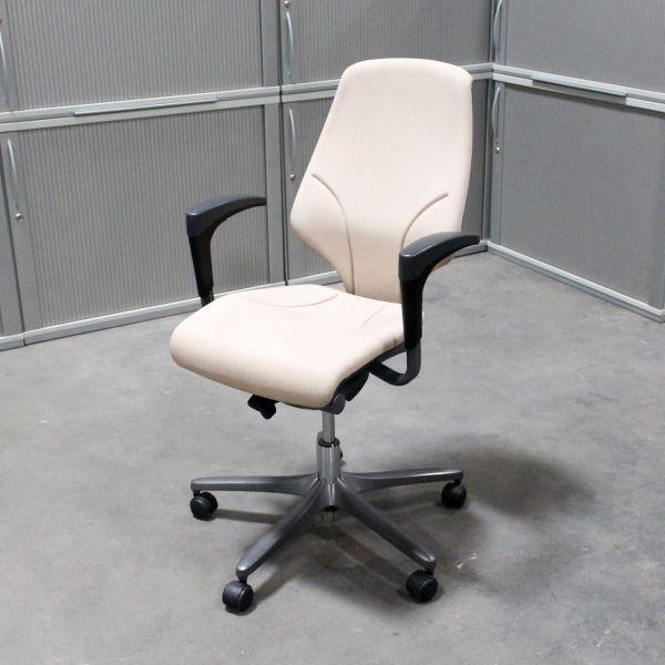 %Sale Giroflex Bürodrehstuhl Stoff Grau / Beige Gestell mattsilber