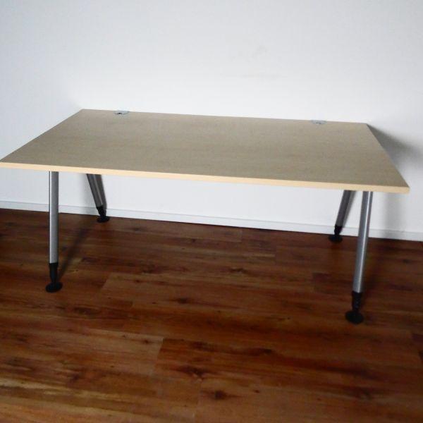 Sedus Schreibtisch 160x80 cm - Platte Ahorn - Gestell silber
