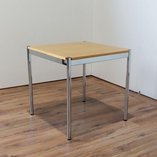 USM Haller Schreibtisch - 75x75cm in buche - Gestell 4-Fuß chrom