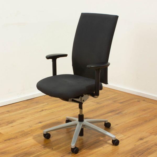 Klöber Cato Bürodrehstuhl - Bezug Stoff grau -5-Sternfußgestell in silber