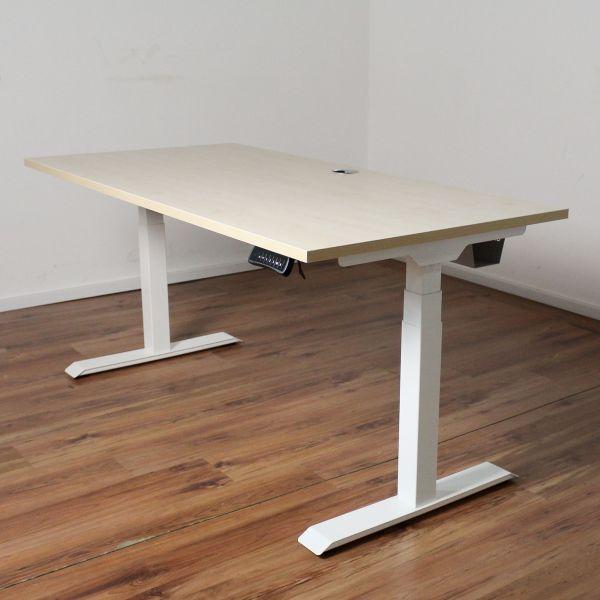 Schreibtisch E-Beam - Platte 160x80cm ahorn - elektrisch höhenverstellbar NEUWARE