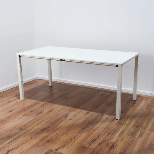 Sedus KMAT Temptation Schreibtisch 160x80 cm Platte weiß 4-Fußgestell weiß