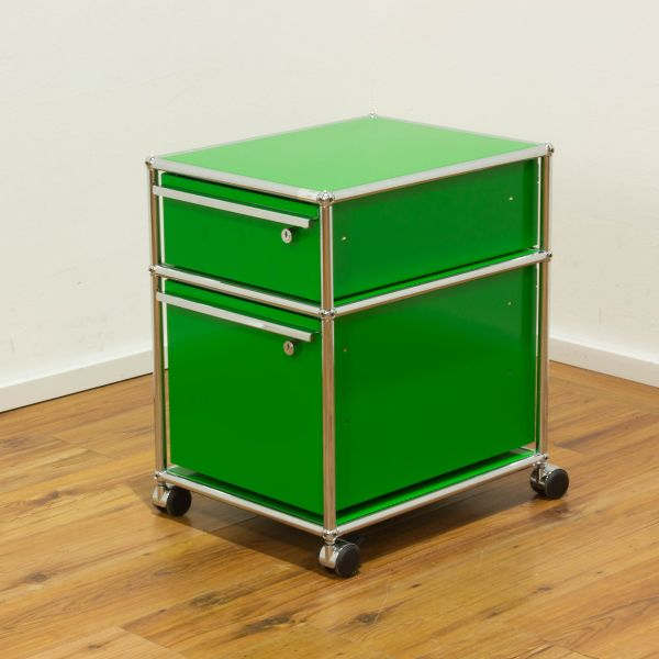 USM Haller Rollcontainer A6 / Hängeregister - usm grün