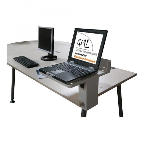 Laptophalterung für Schreibtisch lichtgrau