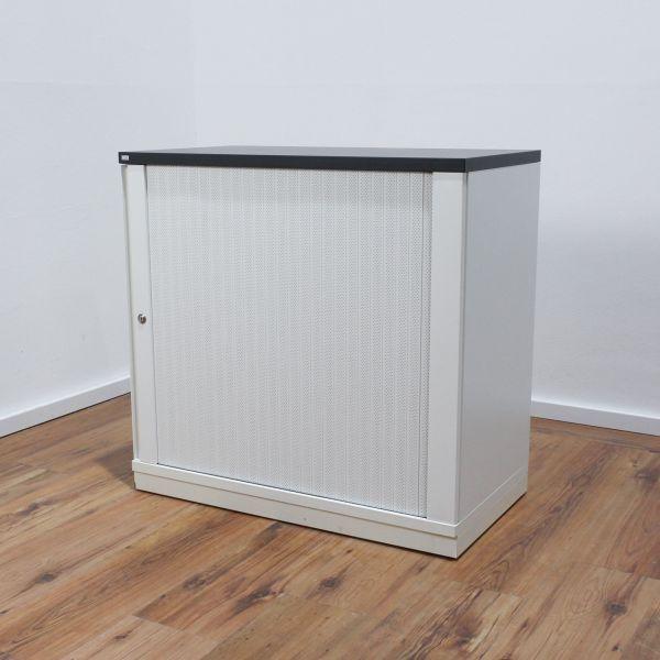 Sedus Sideboard 2OH - Korpus weiß - Deckplatte anthrazit - Breite 80 cm