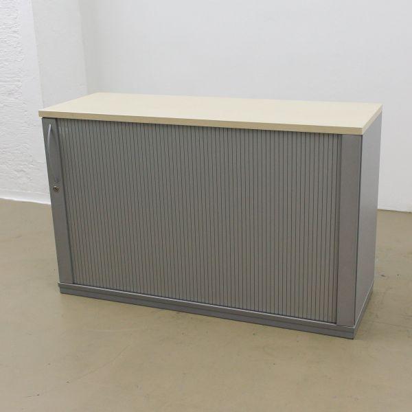 König & Neurath Sideboard 2OH - Querrollladen silber - Breite 120cm