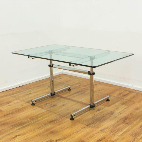 USM Kitos Schreibtisch Glasplatte 150 x 75 cm