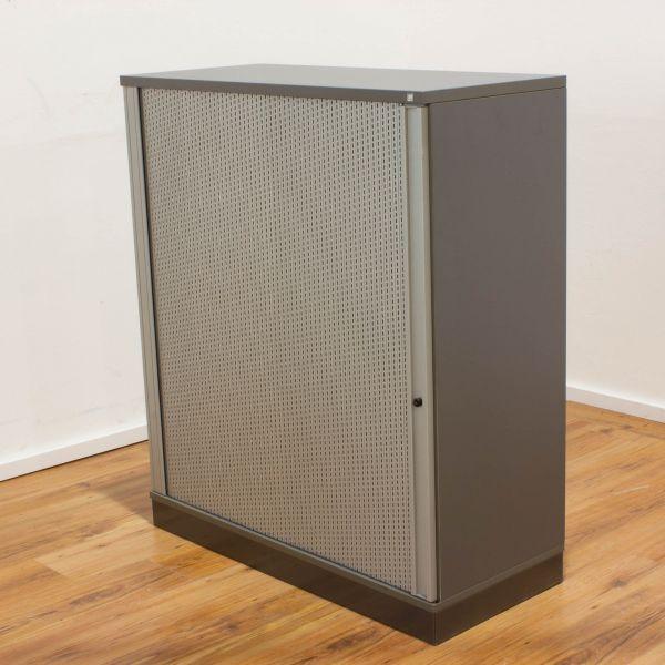 Schärf Sideboard 3OH - Korpus anthrazit - Querrolladen silber