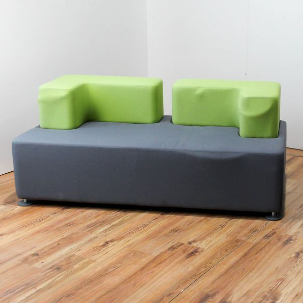 "% Sale Steelcase Couch/Sessel ""let's b"" - Stoff in grau/grün"