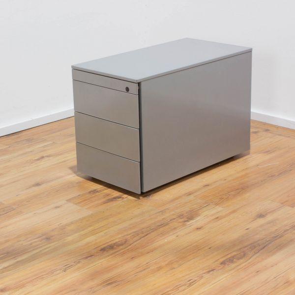 Rollcontainer 4-Laden silber/metallic - verschließbar