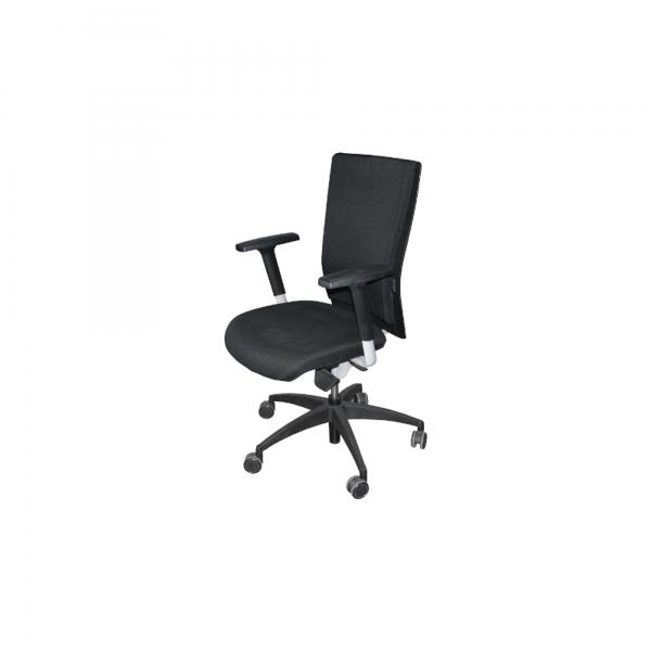 Werndl #1 Bürodrehstuhl Stoff Schwarz Gestell Schwarz