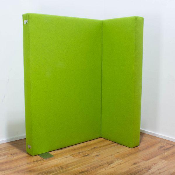 Trennwand / Raumteiler grün - L-Form