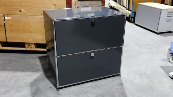 usm haller sideboard 2 ausz gen dunkelgrau ebay. Black Bedroom Furniture Sets. Home Design Ideas