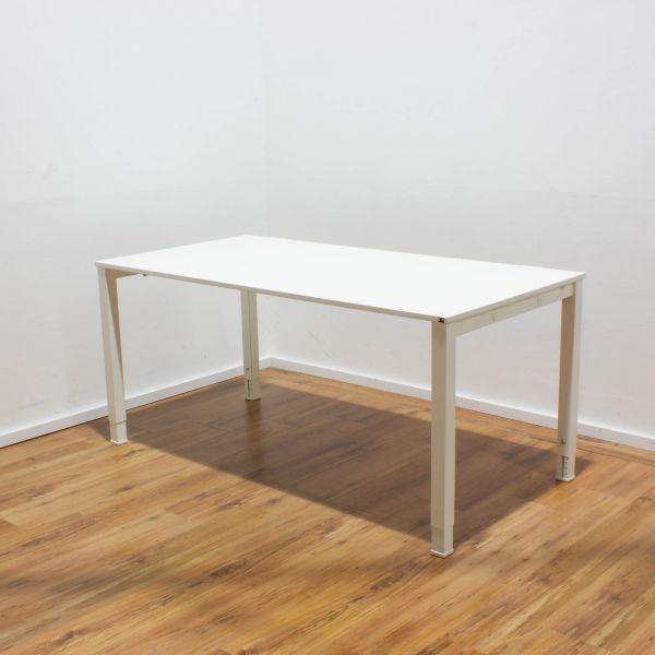 König & Neurath Schreibtisch weiß - 160x80cm - 4-Fußgestell weiß