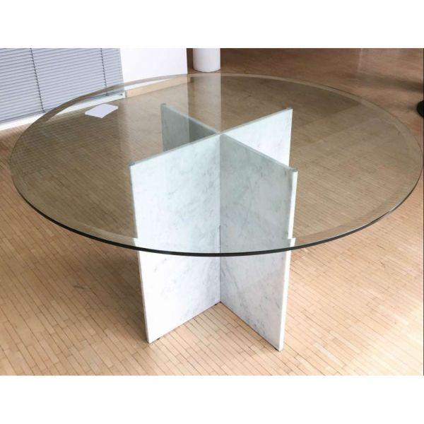 Design Tisch Glas Marmor Ø130cm