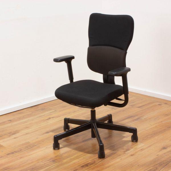 Steelcase Let´s B Bürostuhl - Stoff schwarz - Gestell schwarz