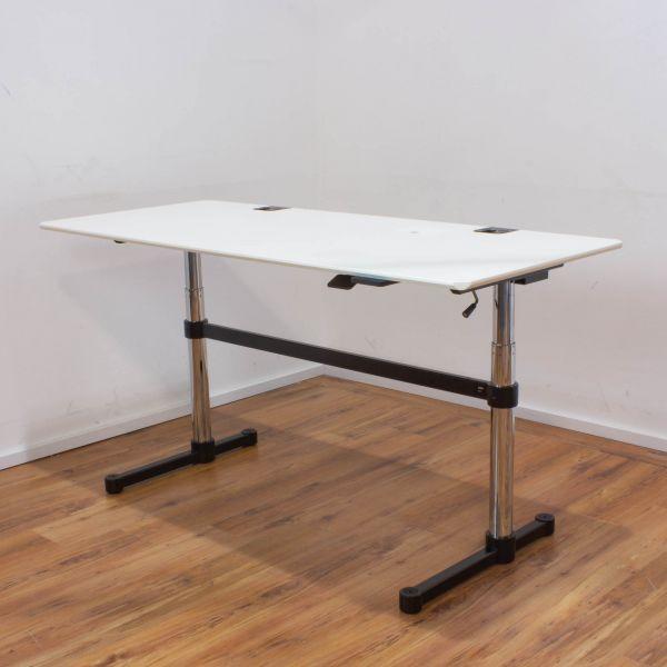 USM Haller Kitos M Schreibtisch/Hubtisch 175x75cm weiß
