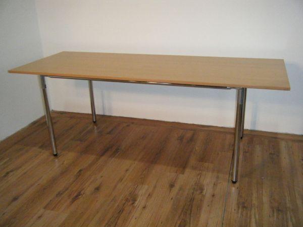 Sedus Talk About Tischsystem TK-300 Buche Platte Chrom Gestell 200 x 75 cm