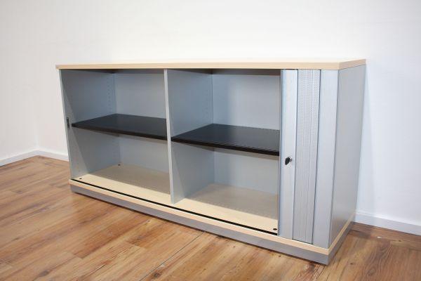 Sedus Sideboard 2OH - Korpus silber - Deckplatte Ahorn - Breite 160 cm