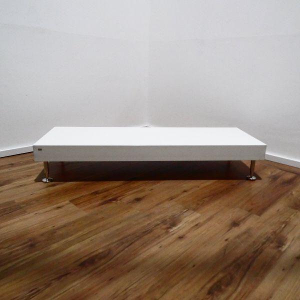 Sedus Couchtisch - Platte weiß - Gestell 4-Fuß chrom - Breite 140 cm